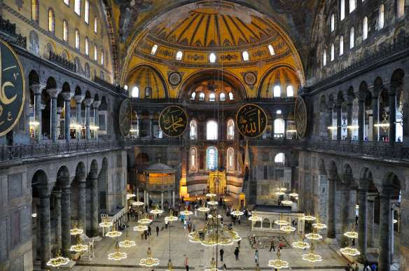 Haghia Sophia - the nave from the upper floor
