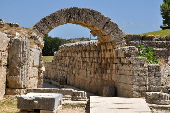 Arch at entry to Stadium, Olympia