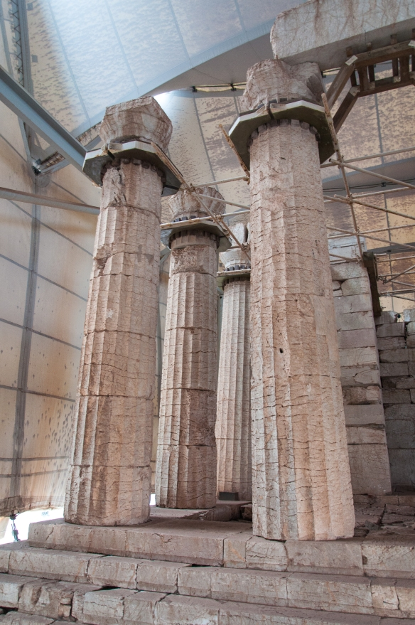 The Temple at Vassai - state of the columns