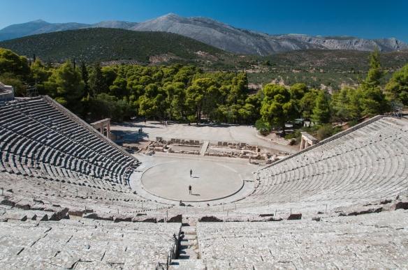 Setting of the theatre at Epidavros