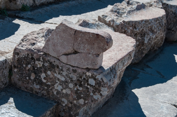 Theatre - stone seat with armrest