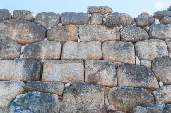 Mycenae - outer walls detail