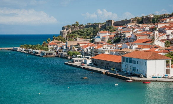 Koroni harbour and fortress